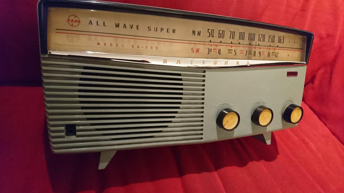 【National】EA-305 真空管 ラジオ ALL WAVE SUPER ナショナル レトロ アンティーク
