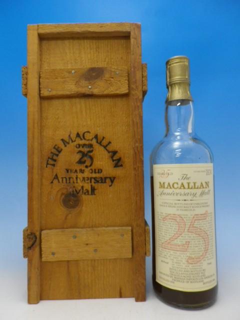 1円~ マッカラン MACALLAN 25年 アニバーサリーモルト 1958-1984 木箱付き B0126-02