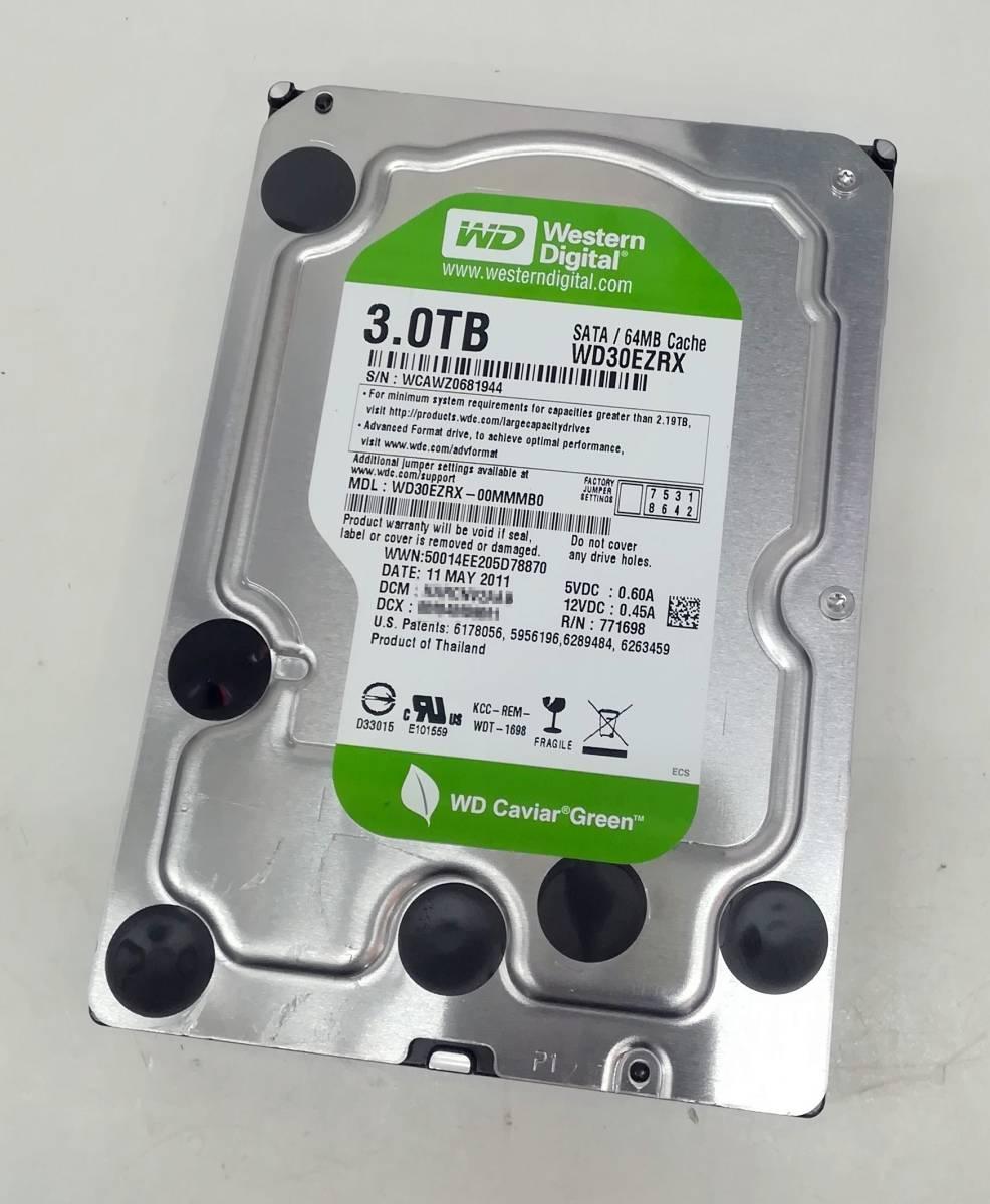 Western Digital 3.5inch【 3TB-HDD 】SATA 64MB【 WD30EZRX 】完動品 / 中古 / 送料込