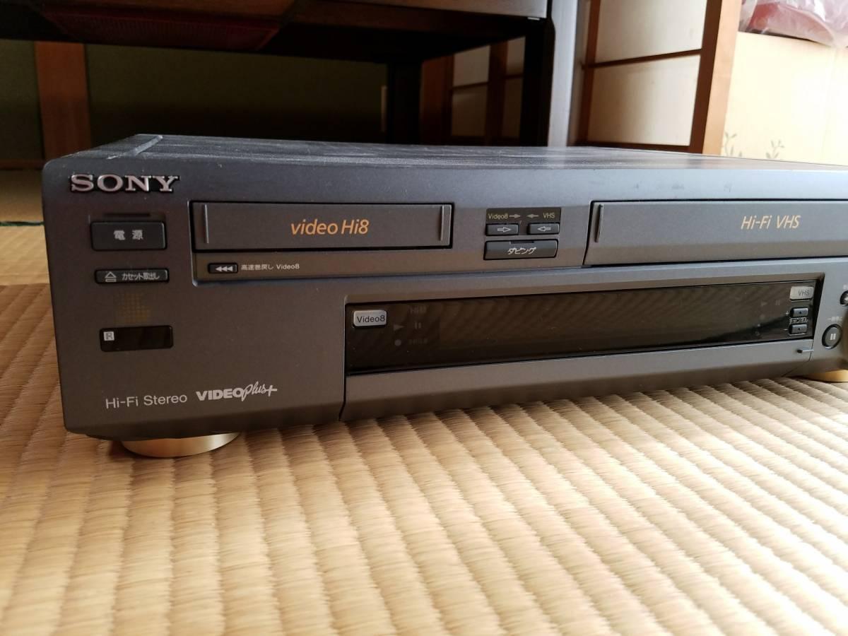 SONY ビデオカセットレコーダー WV-H4 Hi8/VHS ジャンク_画像3