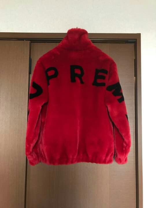 Supreme faux fur bomber jacket 新品 S レッド
