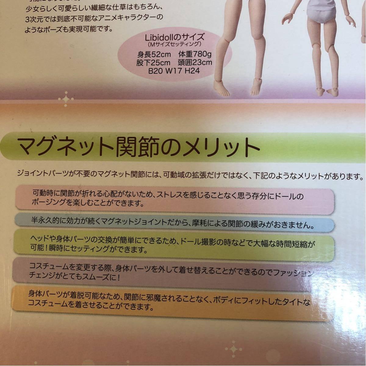 【新品・1円~】リビドール(Libidoll) スターターセット 1/3ドール DD・SDの衣装、ウィッグなども使用可能_画像3