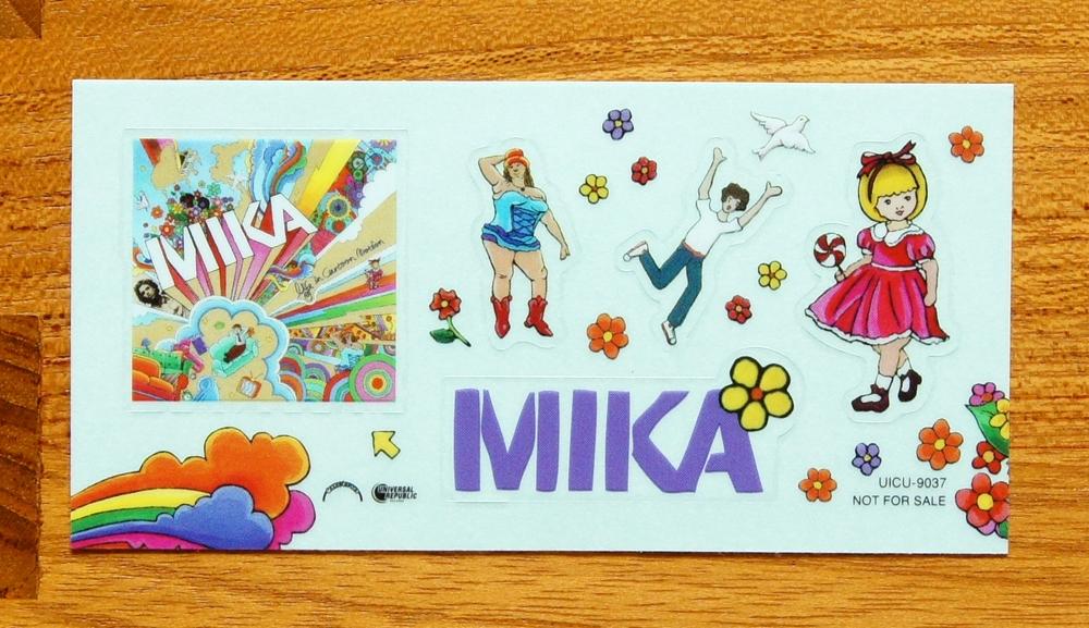 【グッズ】mika / ステッカー / ミーカ / life in cartoon motion / 非売品 / 未使用品
