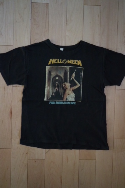 90's HELLOWEEN バンドTシャツ ビンテージ メタル GAMMARAY BLIND GUARDIAN DRAGONFORCE PINK