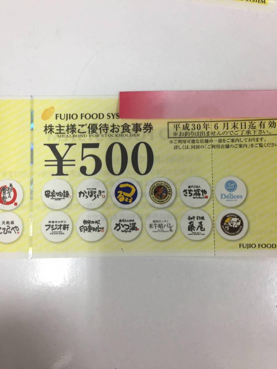 フジオフードサービス 株主優待券 500円×8枚 H30.6/30まで_画像2