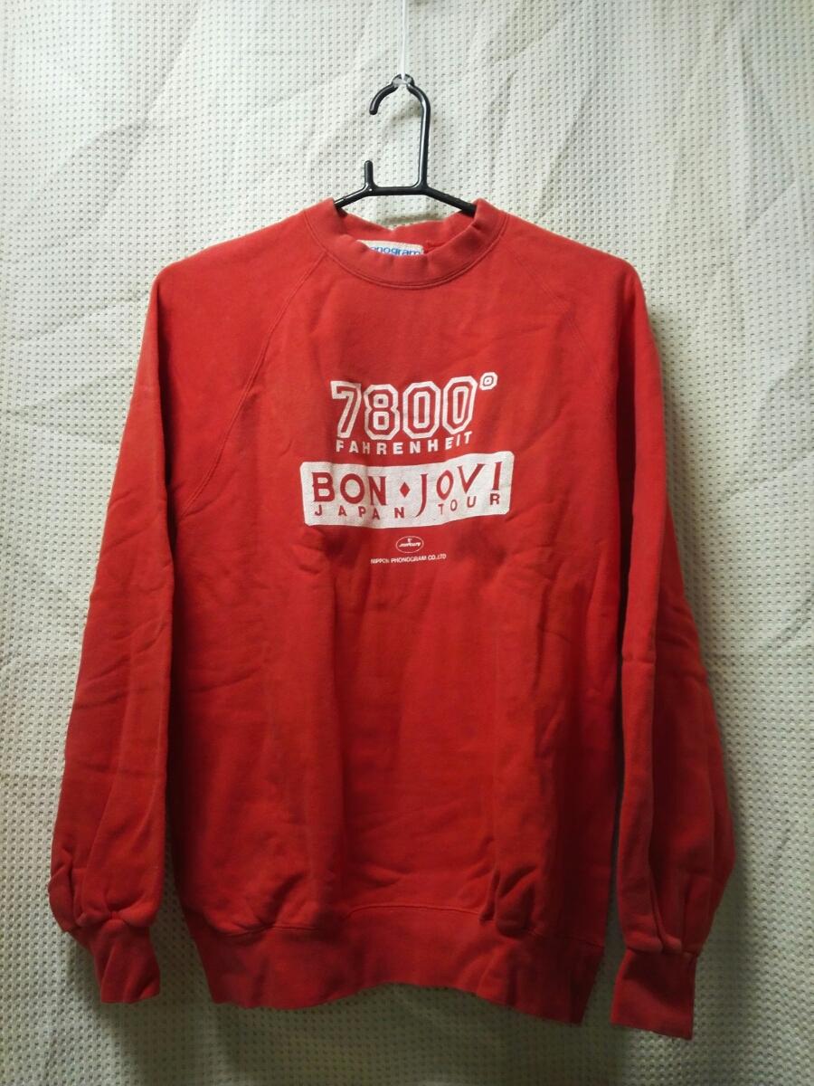 001 バンドTシャツ 関連 ヴィンテージ ボンジョヴィ 7800ファーレンファイト スウェット トレーナー 1985年日本ツアー