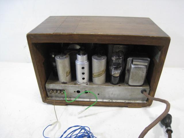 山中電機〈株)14型 テレビアン 真空管ラジオ ちゃんと聞けます 受信OK 昭和初期!_画像5