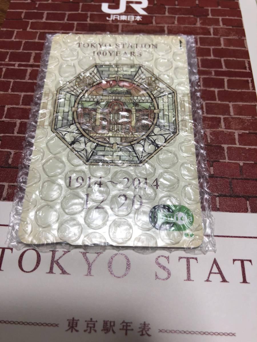 送料込み 新品未開封 Suica スイカ 東京駅開業100周年記念 台紙付