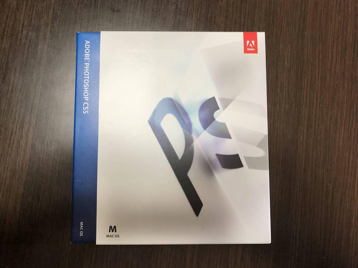 【1円スタート】Adobe Photoshop CS5 日本語版 Mac 製品版 フォトショップ 譲渡申請書無し