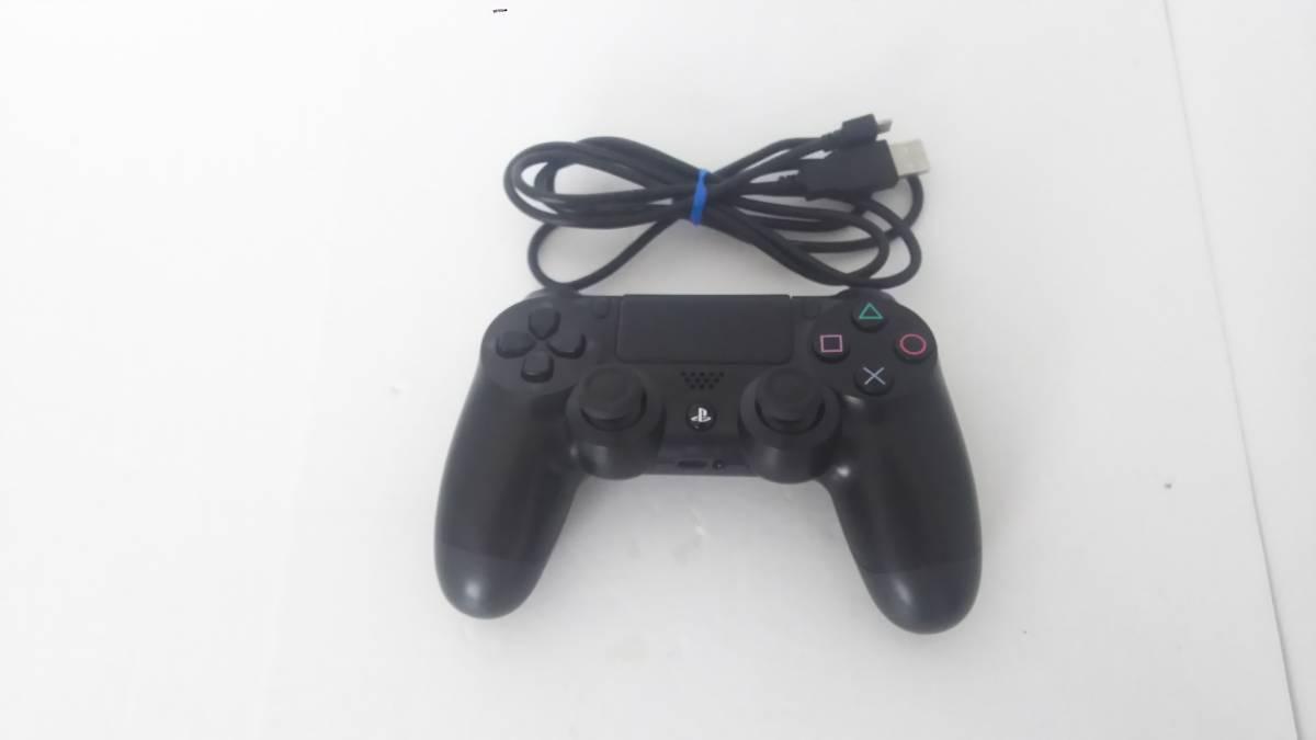 ☆ PS4 ☆ デュアルショック4 ワイヤレスコントローラー ジェットブラック 中古 動作良好 状態良好 SONY
