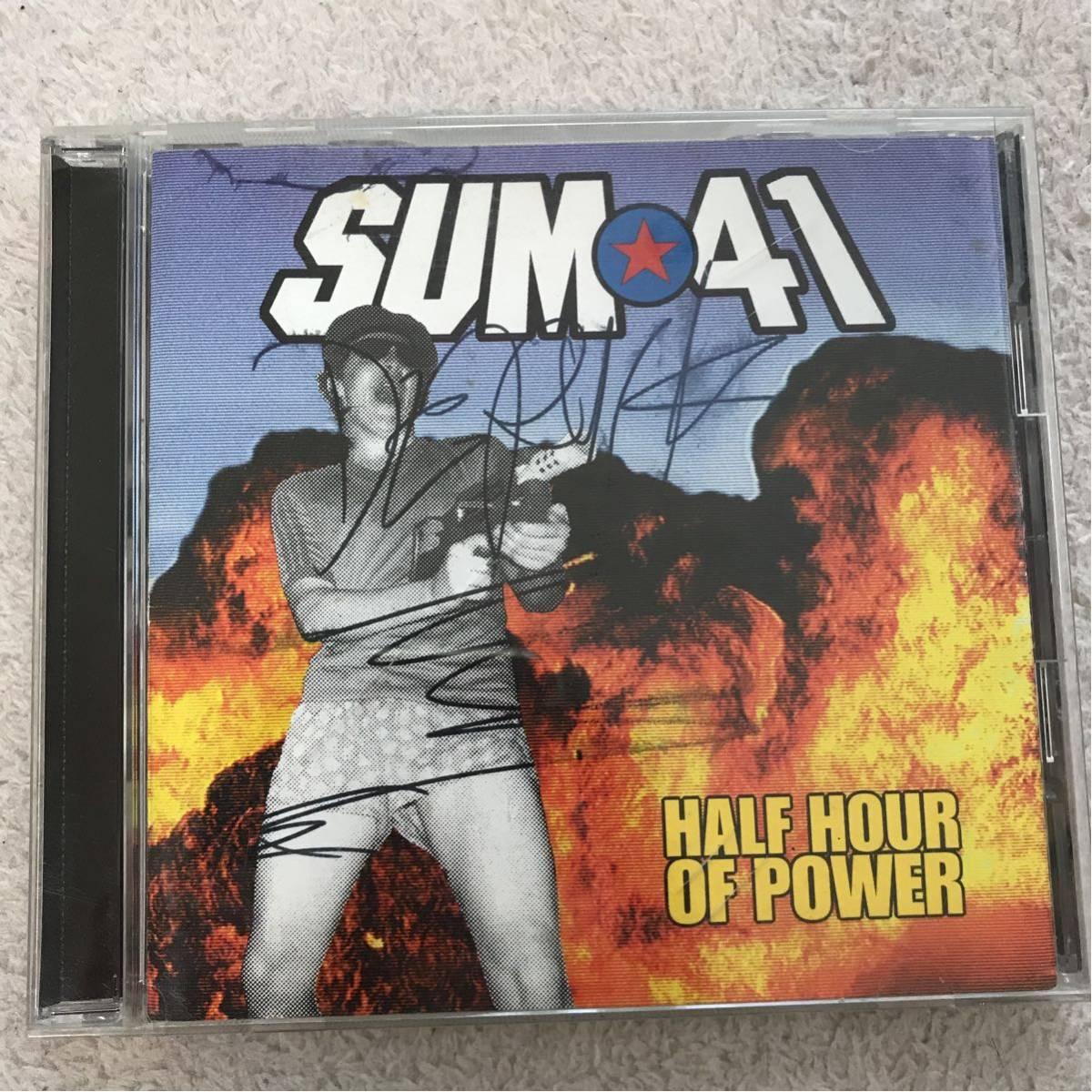 SUM41 直筆サイン入り デリック CD HALF HOUR OF POWER 洋楽 パンク サマソニ