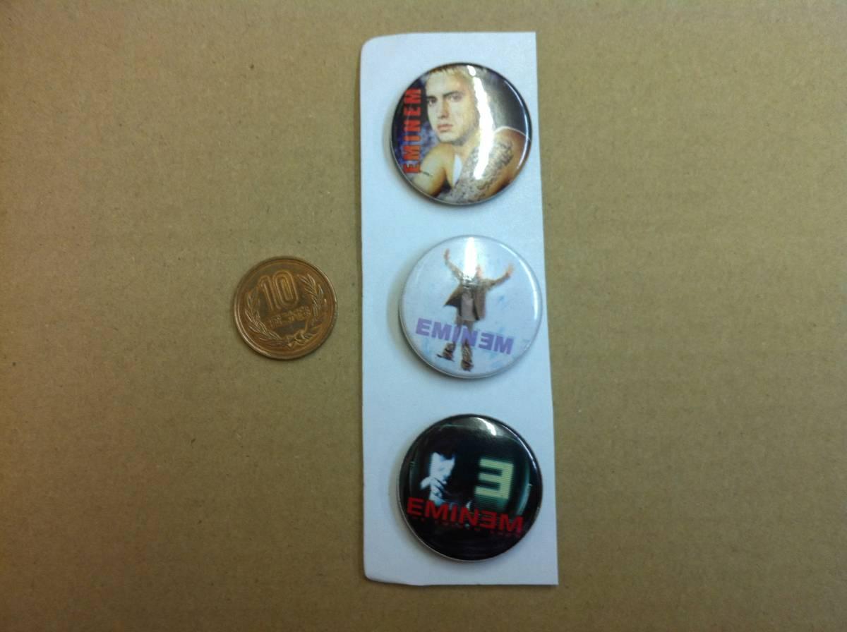 新品 缶バッジ 3個セット EMINEM 即決 bb-11