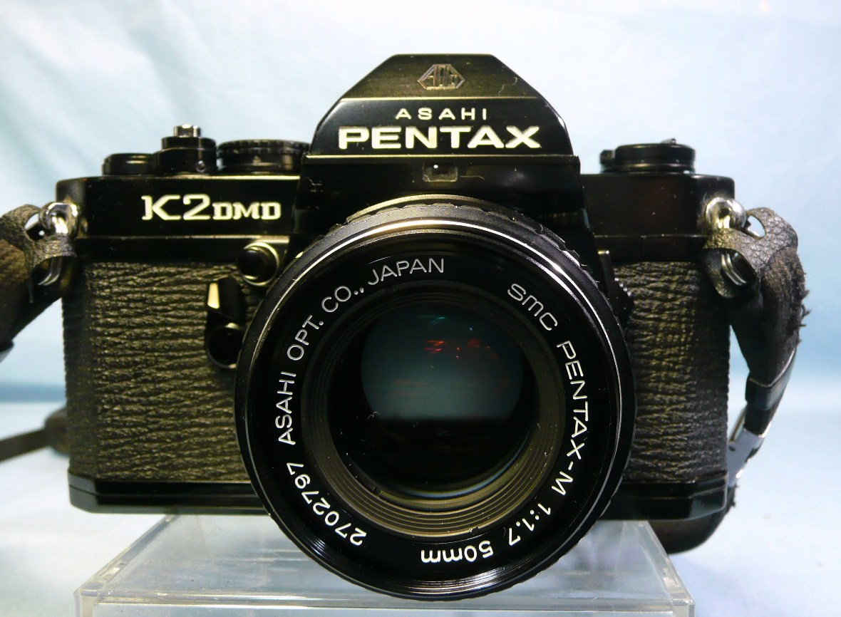 ★動作品★PENTAX K2 DMD ブラックボディ + SMC PENTAX-M 50mm F1.7 中古品ジャンク扱い