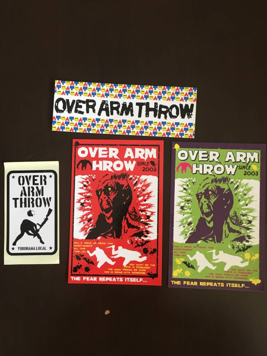 ★ OVER ARM THROW ★ OAT ★ オーバーアームスロー ★ ステッカー ★ 入手不可 ★ 4枚セット ★