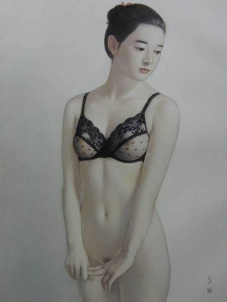 高塚省吾、「粧い」、希少な画集より、新品高級額・額装付、状態良好、送料込み、裸婦、美人画、fir