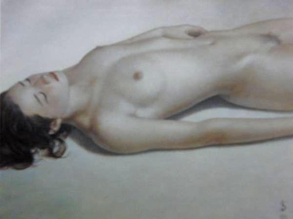高塚省吾、「午後の陽ざし」、希少な画集より、新品高級額・額装付、状態良好、送料込み、裸婦、美人画、fir