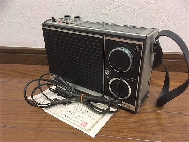 昭和レトロ ★ ナショナル ★ パナソニック ★ ラジオ RF-868D ★ ジャンク品扱い(ラジオは音が出ました)
