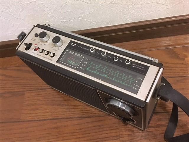 昭和レトロ ★ ナショナル ★ パナソニック ★ ラジオ RF-868D ★ ジャンク品扱い(ラジオは音が出ました)_画像8