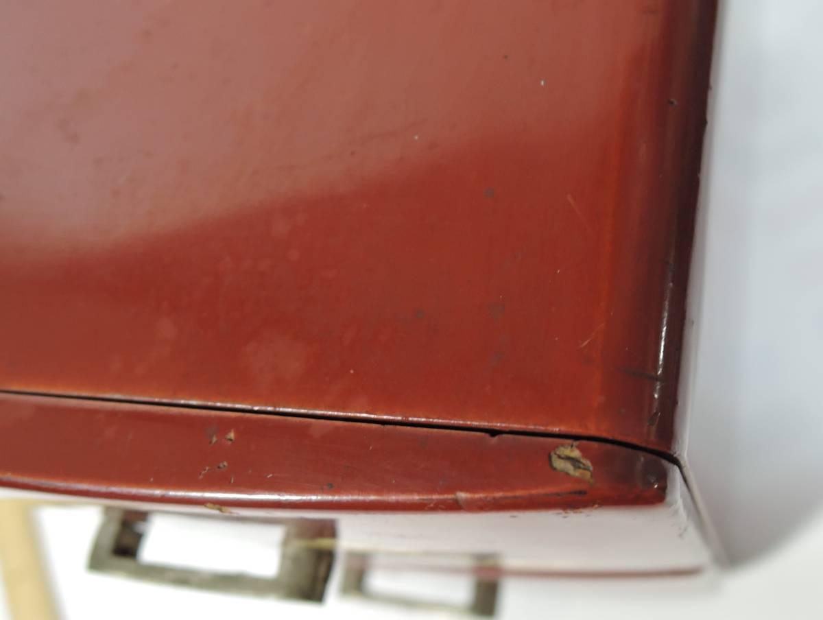 R02■昭和レトロ 朱塗り 2段小引出し/小物入れ 折り鶴■(検索)姫箪笥_画像9