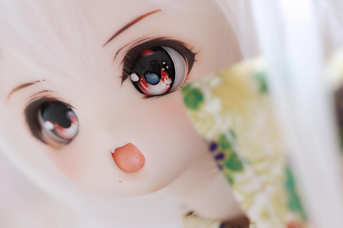 金魚* DDH01 カスタムヘッド&レジンアイ2set セミホワイト肌(SW肌)【Cute little girl】_画像4