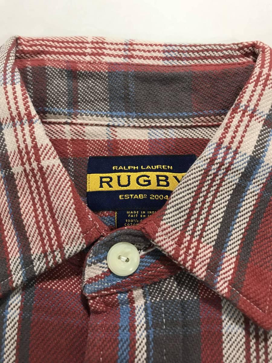 新品 10773 rugby Sサイズ シャツ ポロ ラルフローレン polo ralph lauren ラグビー ビンテージ ネル チェック_画像4