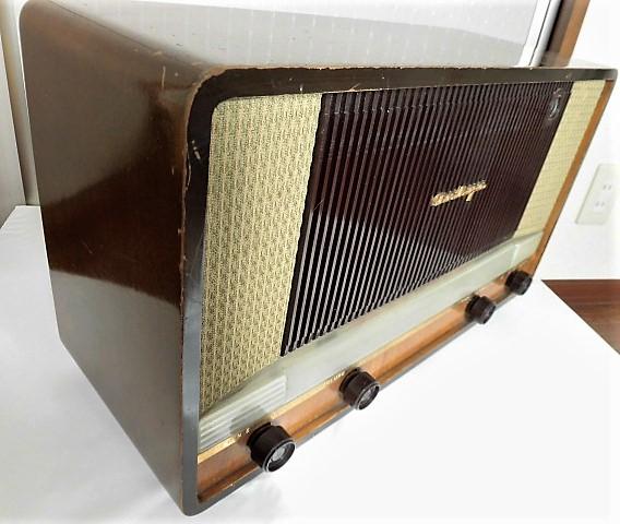 ONKYO/オンキョー OS-75型 真空管ラジオ 音響の高級ラジオ 木製・ST管・7球スパー 動作品 S31 アンティーク ラジオ!_画像5