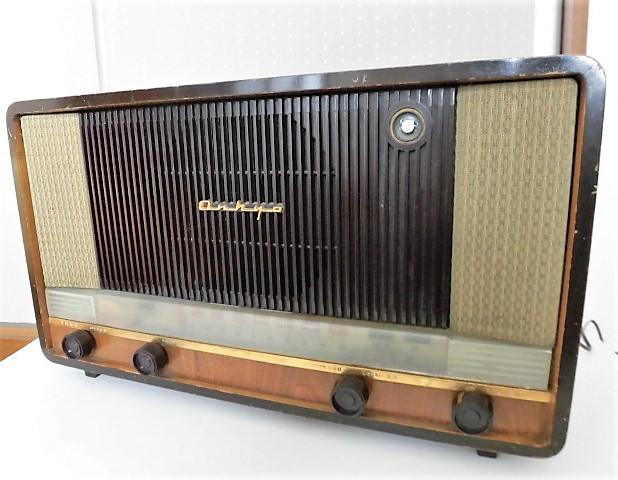 ONKYO/オンキョー OS-75型 真空管ラジオ 音響の高級ラジオ 木製・ST管・7球スパー 動作品 S31 アンティーク ラジオ!_画像2