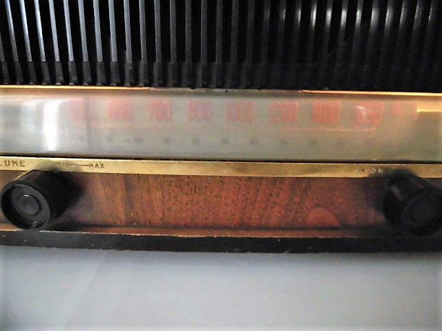 ONKYO/オンキョー OS-75型 真空管ラジオ 音響の高級ラジオ 木製・ST管・7球スパー 動作品 S31 アンティーク ラジオ!_画像7
