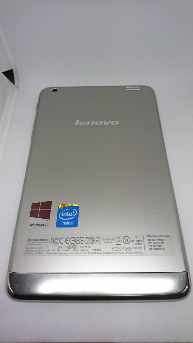 ジャンク Lenovo レノボ IdeaPad Miix2 8 ( Atom Z3740 / 64GB / 2GB / Win8.1 / 8型HD IPS / ブラック)_画像4