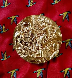 *入手困難・美品* 造幣局謹製 天皇陛下御在位六十年記念貨幣製造記念メダル