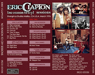 ERIC CLAPTON NO REASON TO CRY SESSIONS 【2CD】_画像2