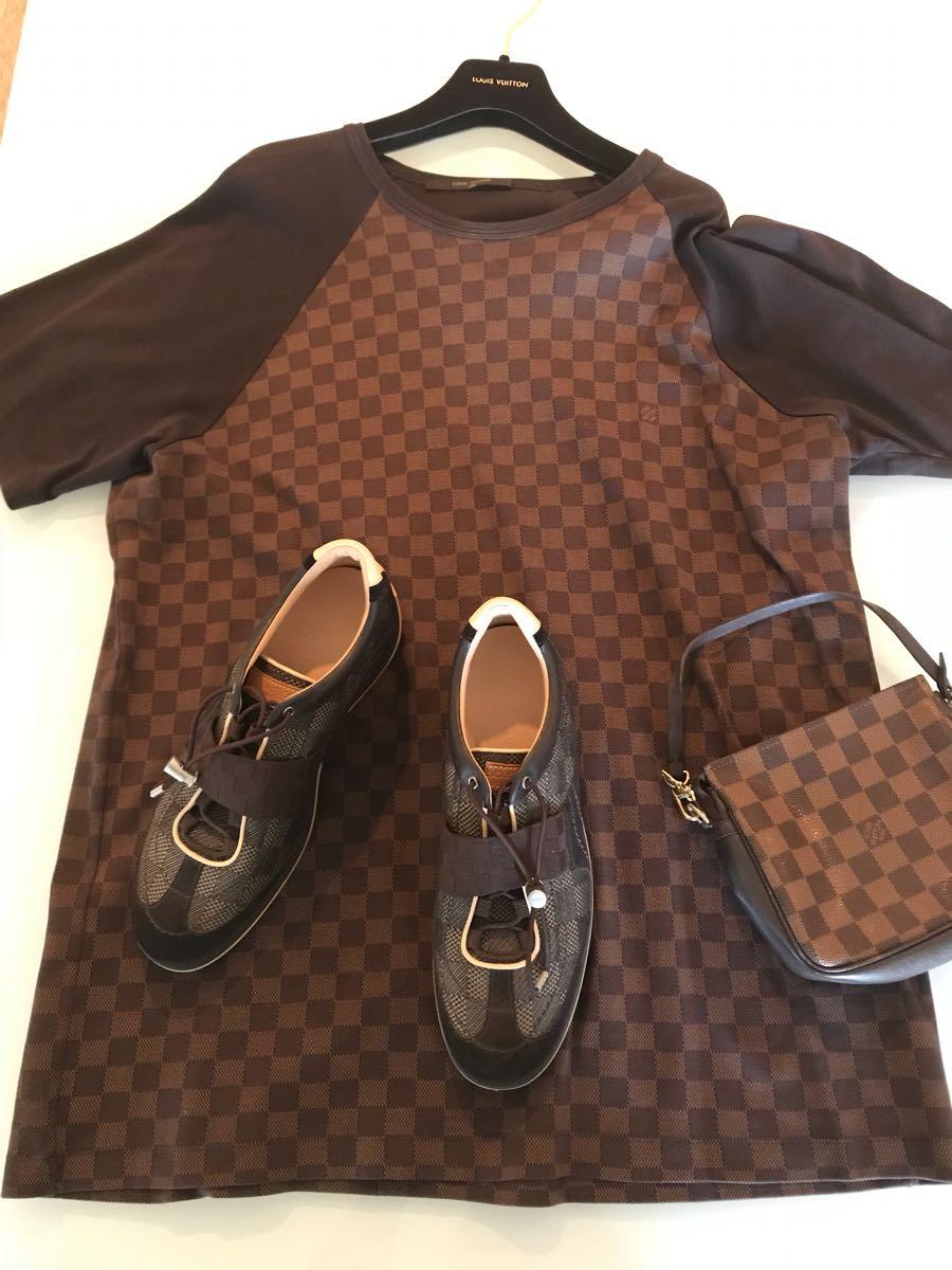 ルイヴィトンLouis Vuitton3セットTシャツシューズミニバッグ_画像1