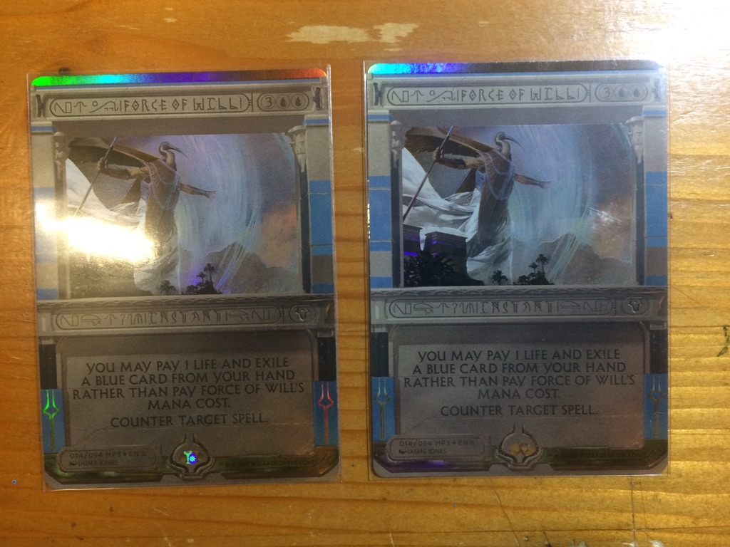 MTG 意思の力 force of will foil  マスターピース 2枚セット 日本語版BOX アモンケット マジック;ザ・ギャザリング