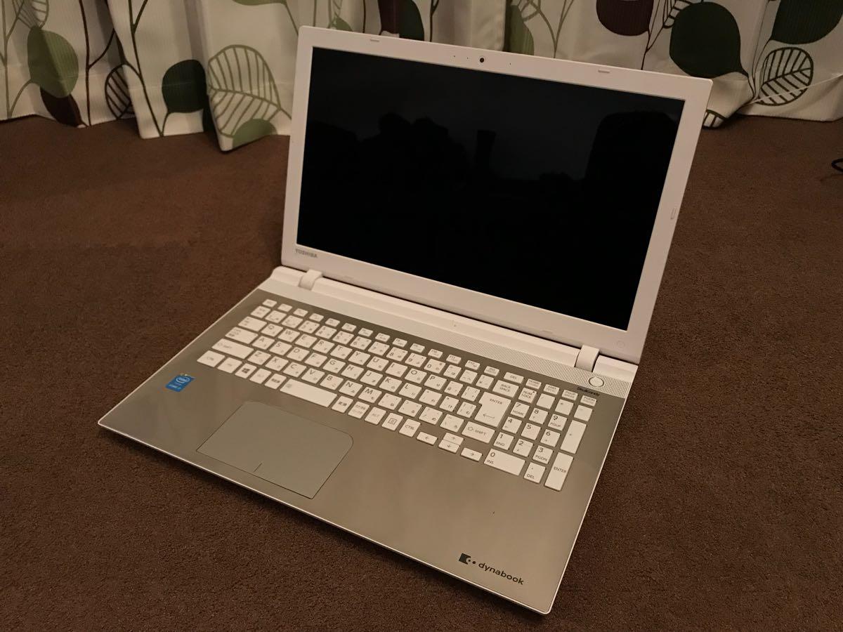 1円スタート TOSHIBA PT75RGS-HHB3 15.6インチ ノートパソコン i7 5500U/メモリ:8GB/HDD:1TB/Windows10
