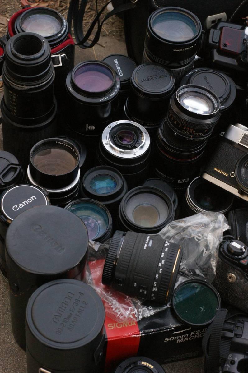 レンズ付き一眼21台山盛り完全ジャンクセット_画像2