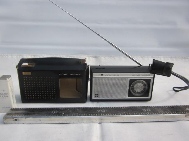 NATONAL ナショナル ラジオ R-206 MW/SW 2バンド トランジスタラジオ 美品