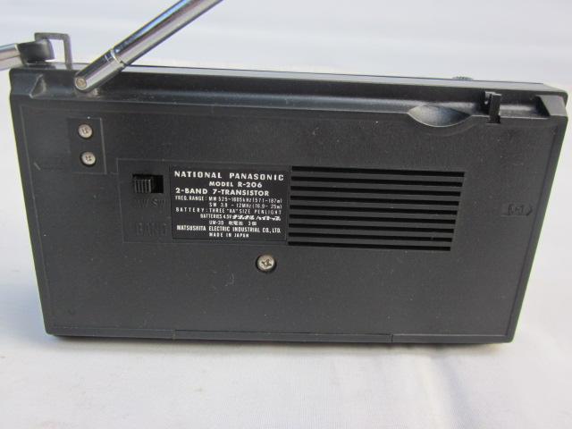 NATONAL ナショナル ラジオ R-206 MW/SW 2バンド トランジスタラジオ 美品_画像6