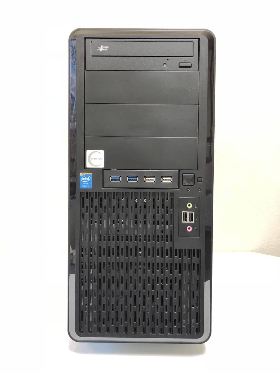 *★爆速・高性能・自作PC/UNITCOM★* Ci7 4790~4.00GHz/16GB/新品SSD320+2TB/GTX760/WIN10・Office搭載_画像2