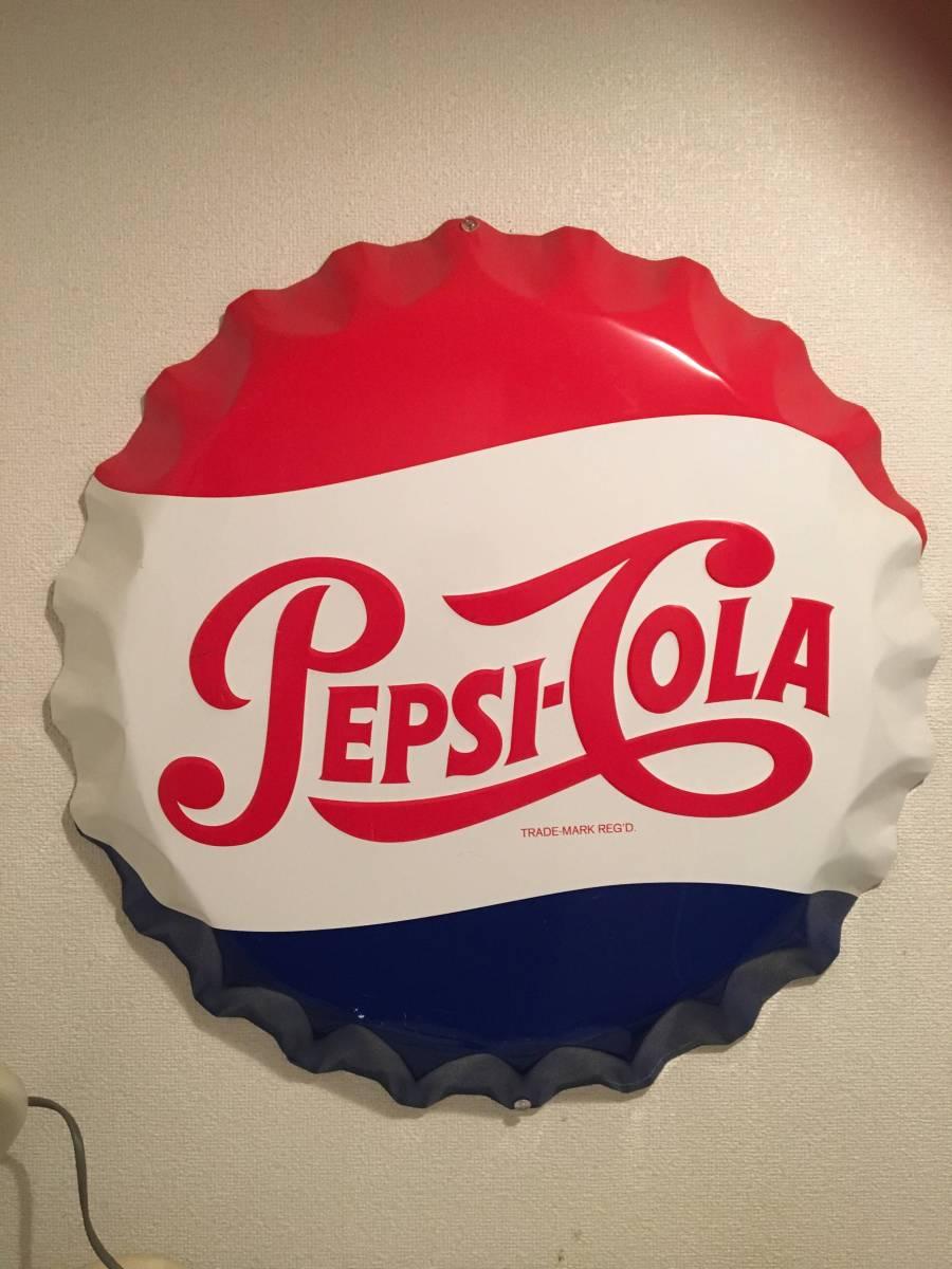 アンティーク PEPSI ペプシ コーラ 王冠 ビンテージ 看板 琺瑯 レトロ サイン NIGO