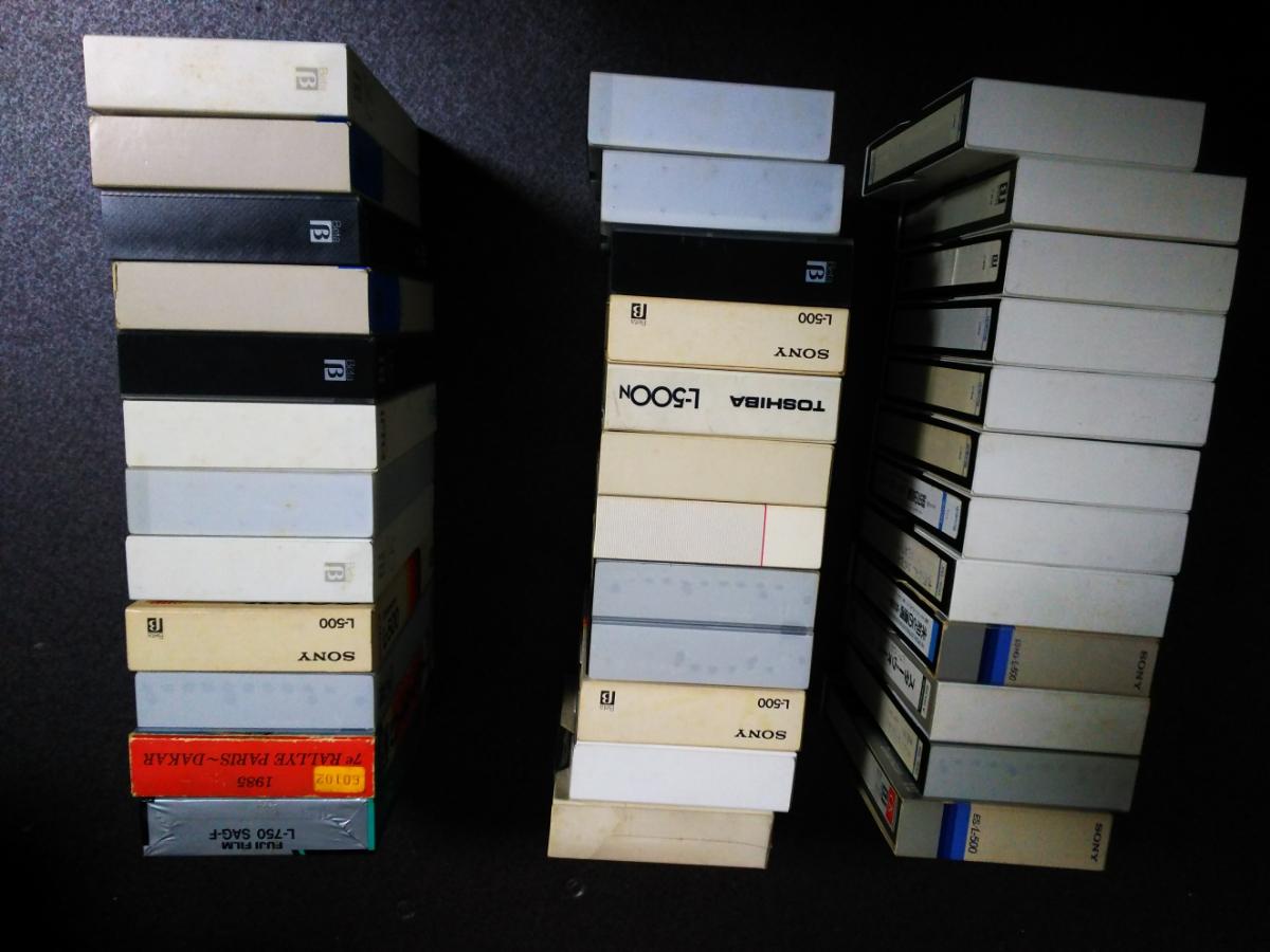 中古新品合わせベータBataビデオテープおよそ36本ソニーTDKFUJIスコッチ750 l500_画像4