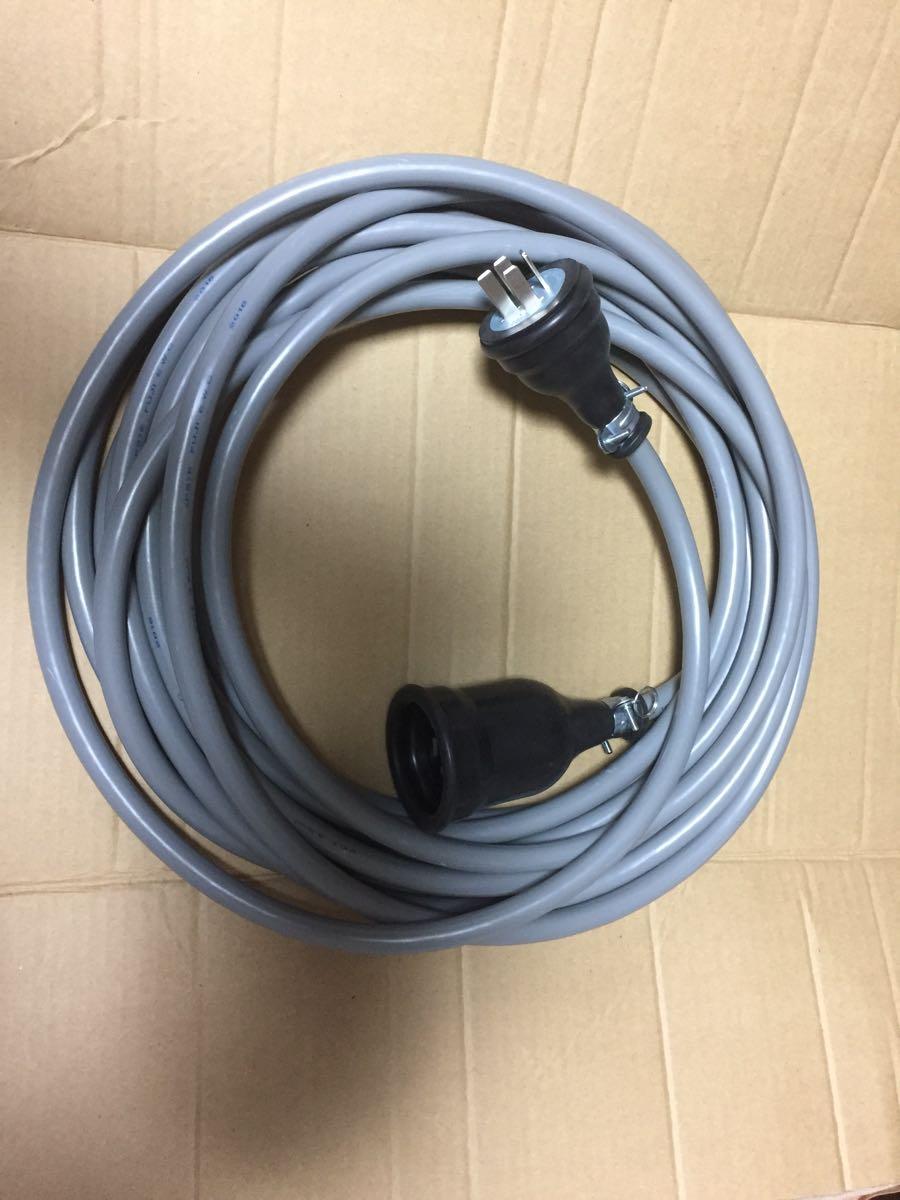 三相200v動力 延長コード 5m vct3.5 ケーブル キャブタイヤケーブル 新品 防水