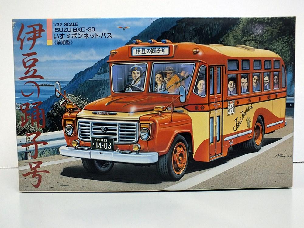 1/32 isuzu bonnet bus bxd-30. legume  number plastic model 12-127