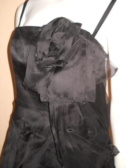 新品 スコットクラブ 系列 LASUD ラシュッド ドレス ワンピース シルク100% 定価28000円のお品 メ2276_画像1