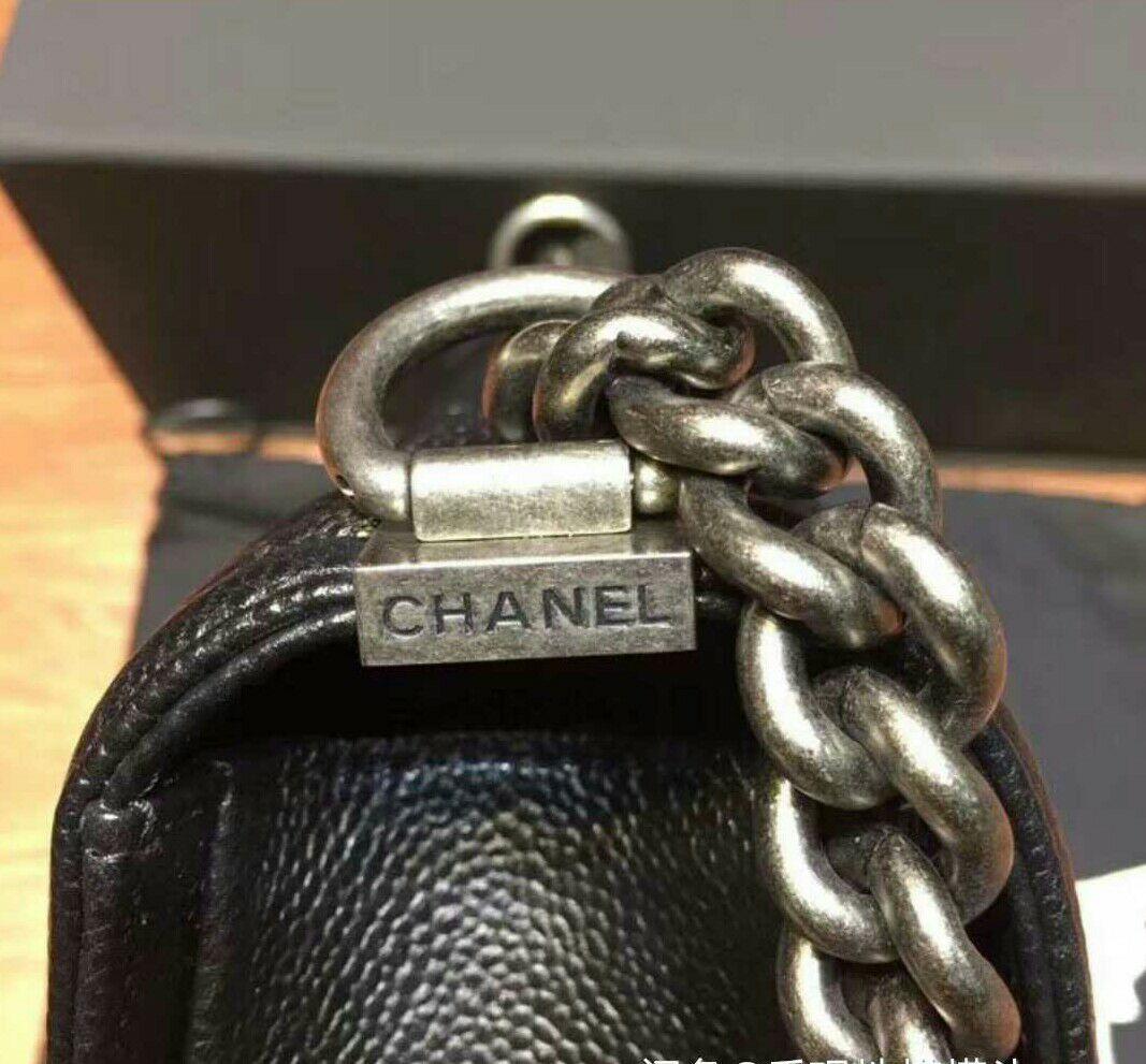 正規品☆CHANEL Boy Chanel,肩包黑色M_画像4