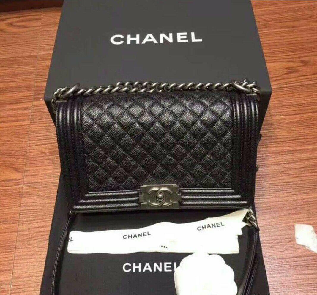 正規品☆CHANEL Boy Chanel,肩包黑色M