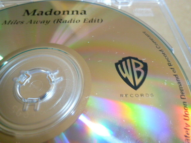 MADONNA マドンナ Miles Away 未発表バージョン収録プロモCD : アカペラ、インストゥルメンタル _画像2