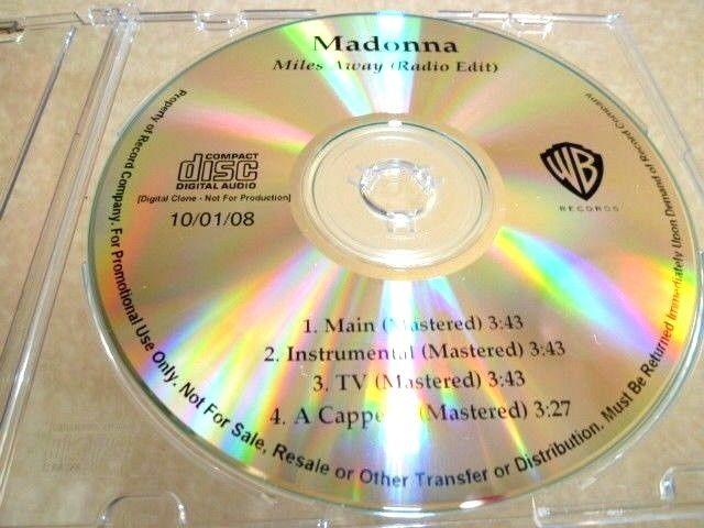MADONNA マドンナ Miles Away 未発表バージョン収録プロモCD : アカペラ、インストゥルメンタル _画像1
