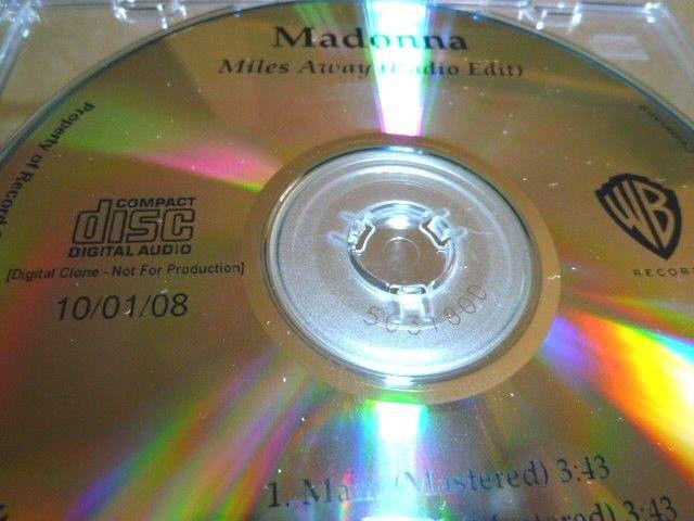 MADONNA マドンナ Miles Away 未発表バージョン収録プロモCD : アカペラ、インストゥルメンタル _画像4