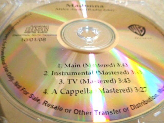 MADONNA マドンナ Miles Away 未発表バージョン収録プロモCD : アカペラ、インストゥルメンタル _画像5