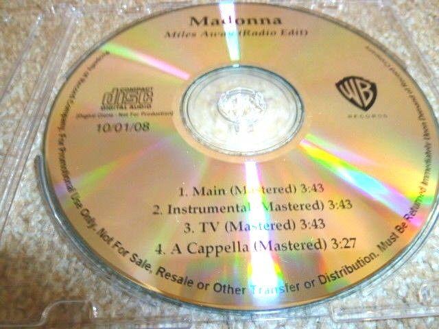 MADONNA マドンナ Miles Away 未発表バージョン収録プロモCD : アカペラ、インストゥルメンタル _画像6